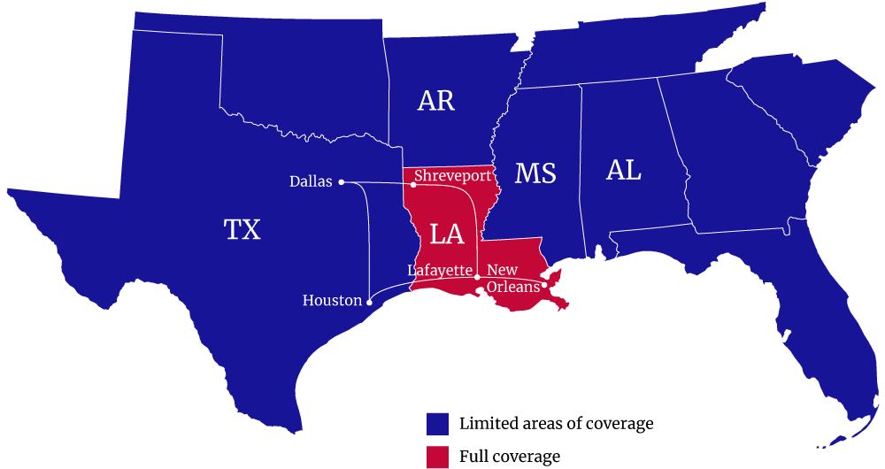Service Areas Sure Logix LLC